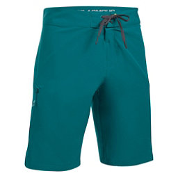 Under Armour Reblek Mens Board Shorts, Turquoise Sky-Rhino Gray-Tokyo, 256