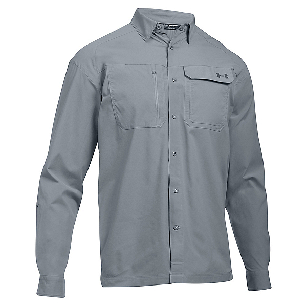 Under Armour Fish Hunter Long Sleeve Solid Mens Shirt, , 600