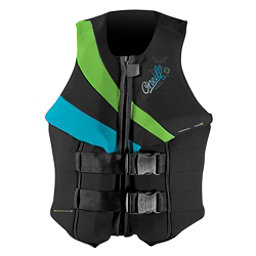 O'Neill Siren LS Womens Life Vest 2018, Black-Dayglo-Turquoise, 256
