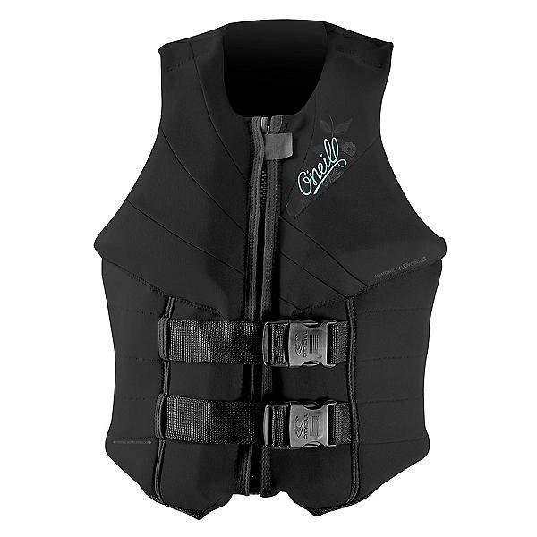 O'Neill Siren LS Womens Life Vest 2020, Black-Black-Black, 600