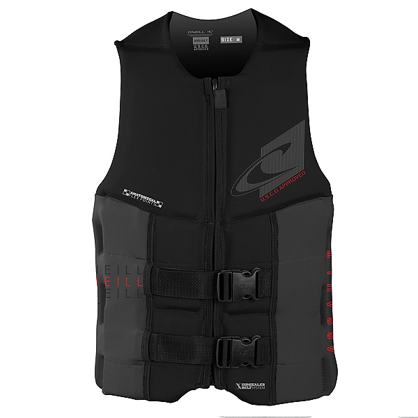 O'Neill Assault LS USCG Adult Life Vest 2019, Black-Black, 600