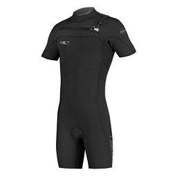 O'Neill Hyperfreak F.U.Z.E. Short Sleeve Shorty Wetsuit 2017, Black-Black-Graphite, 256