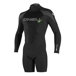O'Neill Epic Long Sleeve Spring Shorty Wetsuit 2017, Black-Black-Graphite, 256