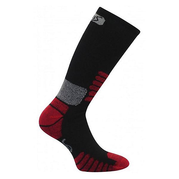 Euro Sock Nordic Womens Ski Socks, Black-Red, 600