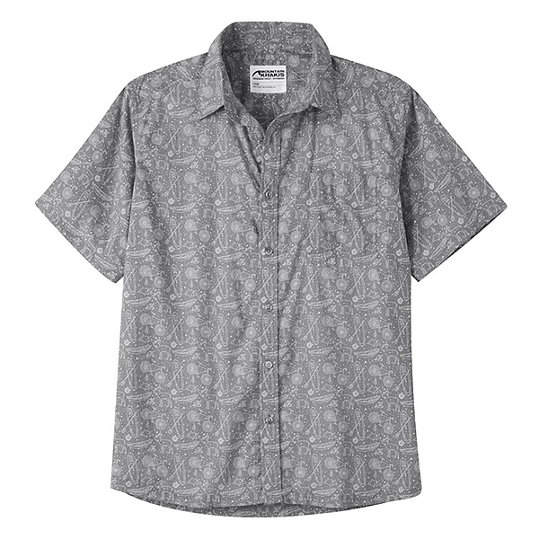 Mountain Khakis Zodiac Signature Print Mens Shirt, Gunmetal, 600