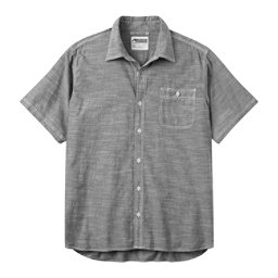 Mountain Khakis Mountain Chambray Short Sleeve Mens Shirt, Black, 256