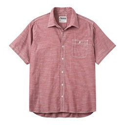 Mountain Khakis Mountain Chambray Short Sleeve Mens Shirt, Garnet, 256