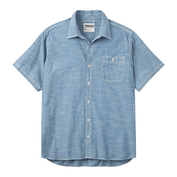 Mountain Khakis Mountain Chambray Short Sleeve Mens Shirt, , 600