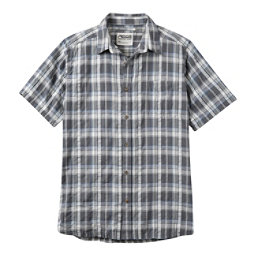 Mountain Khakis Crags EC Crinkle Short Sleeve Mens Shirt, Gunmetal, 256