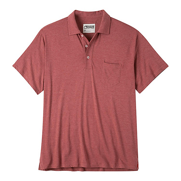 Mountain Khakis Patio Polo Mens Shirt, Rojo Heather, 600