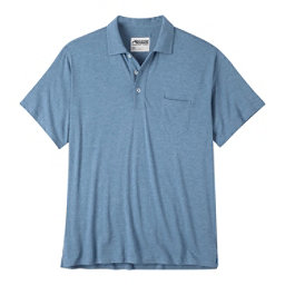 Mountain Khakis Patio Polo Mens Shirt, Blue Ridge Heather, 256
