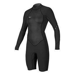 O'Neill Bahia Long Sleeve Womens Shorty Wetsuit 2017, Black-Black-Black, 256