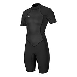 O'Neill Bahia Short Sleeve Spring Womens Shorty Wetsuit 2017, Black-Black-Black, 256