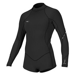 O'Neill Bahia Long Sleeve Spring Womens Shorty Wetsuit 2017, Black-Black-Black, 256
