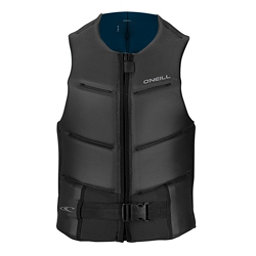 O'Neill Outlaw Comp Adult Life Vest 2018, Black-Brite Blue, 256