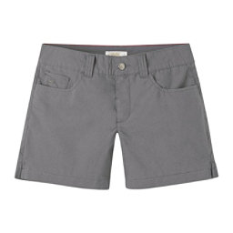Mountain Khakis Poplin 7in Slim Fit Womens Shorts, Gunmetal, 256
