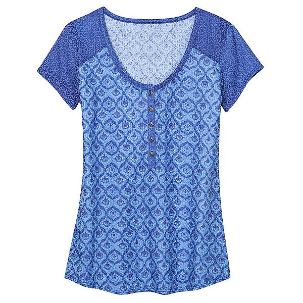 KUHL Kortina Short Sleeve Henley Womens Shirt, Vista Blue, 600
