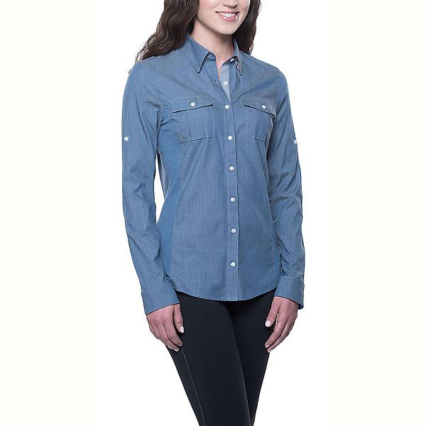 KUHL Kiley Long Sleeve Womens Shirt, Denim Blue, 600