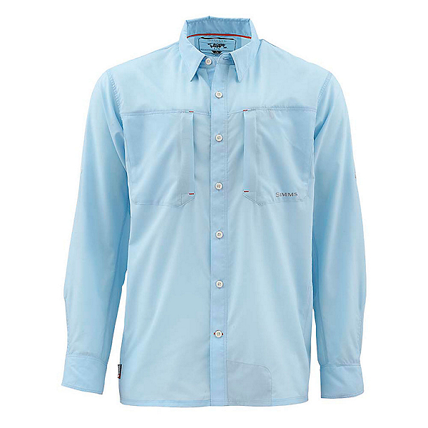 Simms Ultralight Long Sleeve Mens Shirt, Light Blue, 600