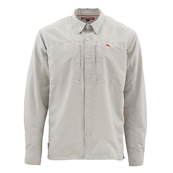Simms Bugstopper Long Sleeve Solid Mens Shirt, Ash, 600