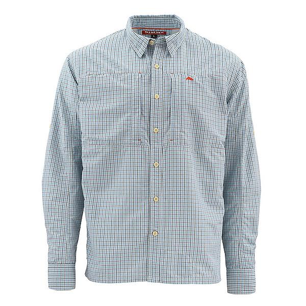 Simms Bugstopper Long Sleeve Plaid Mens Shirt, Oxford Blue Plaid, 600