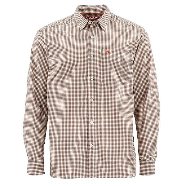 Simms Westshore Long Sleeve Mens Shirt, Dune Plaid, 600