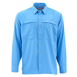 Simms Ebbtide Long Sleeve Mens Shirt, Harbor Blue, 256