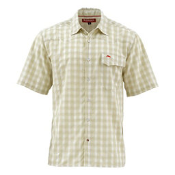 Simms Big Sky Short Sleeve Mens Shirt, Sage Plaid, 256