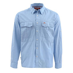 Simms Deceiver Long Sleeve Mens Shirt, Harbor Blue, 256