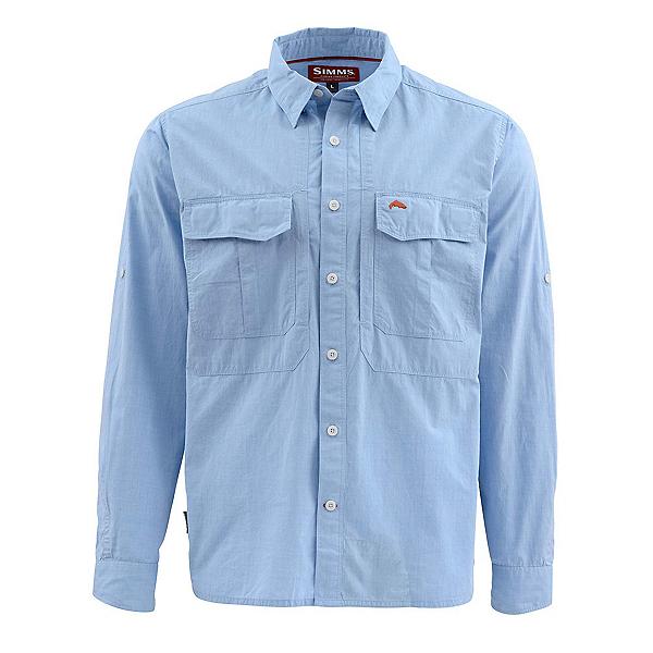 Simms Deceiver Long Sleeve Mens Shirt, Harbor Blue, 600