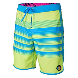 O'Neill Hyperfreak Generator Scallop Mens Board Shorts, Neon Yellow, 256