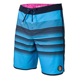 O'Neill Hyperfreak Generator Scallop Mens Board Shorts, Neon Blue, 256