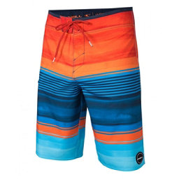 O'Neill Hyperfreak Heist Mens Board Shorts, Orange, 256