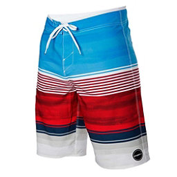 O'Neill Hyperfreak Heist Mens Board Shorts, Red-White-Blue, 256