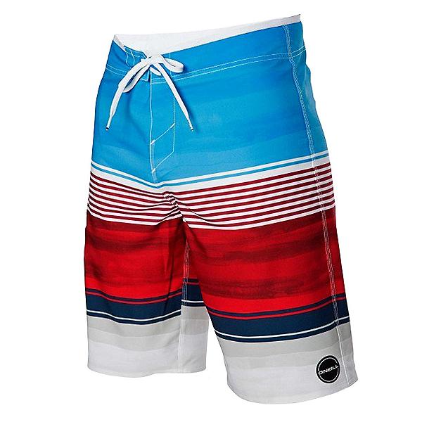 O'Neill Hyperfreak Heist Mens Board Shorts, Red-White-Blue, 600