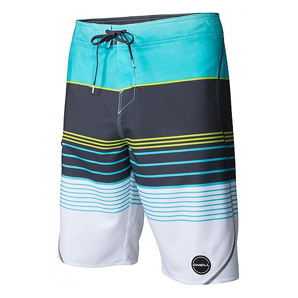 O'Neill Hyperfreak Transfer S-Seam Mens Board Shorts, Aqua, 600