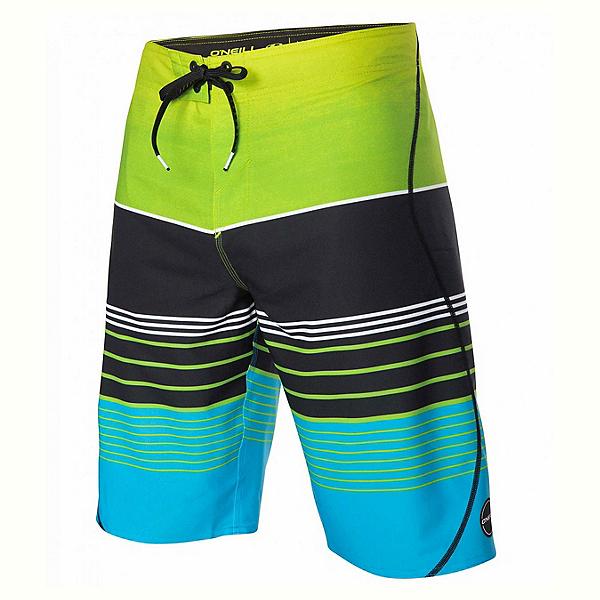 O'Neill Hyperfreak Transfer S-Seam Mens Board Shorts, Lime, 600