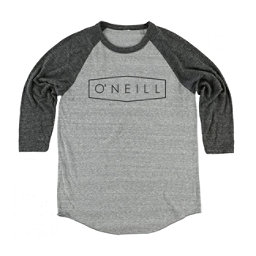 O'Neill Unity Raglan Mens Shirt, Grey-Black, 256