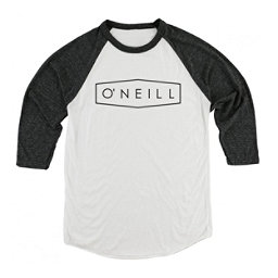 O'Neill Unity Raglan Mens Shirt, White-Black, 256