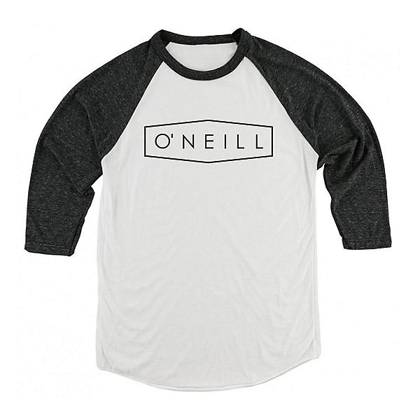 O'Neill Unity Raglan Mens Shirt, White-Black, 600