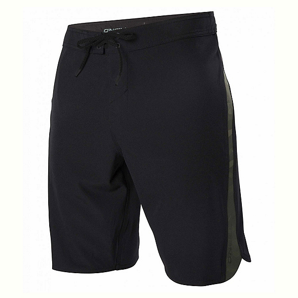 O'Neill Superfreak Scallop Mens Board Shorts, Black-Camo, 600