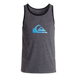Quiksilver Mountain & Wave Logo Mens T-Shirt, Charcoal Heather, 256