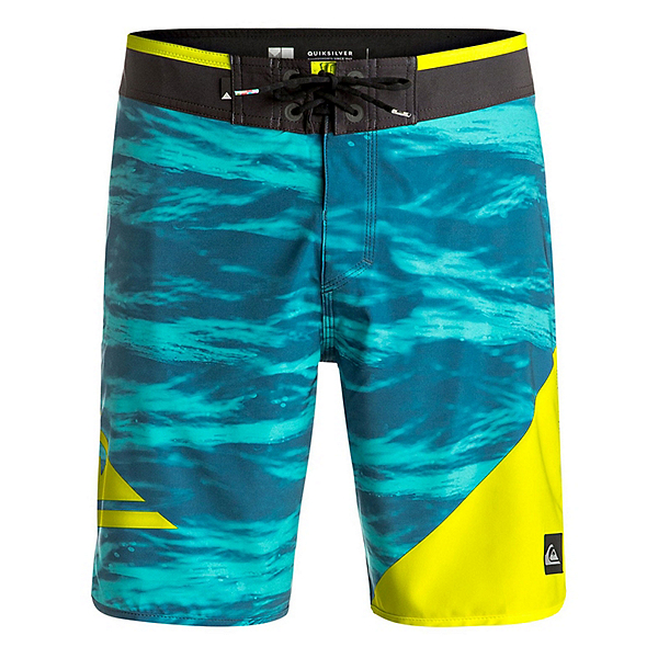 Quiksilver New Wave Mens Board Shorts, Moroccan Blue, 600
