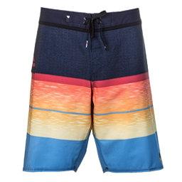Quiksilver Slab Logo Vee Mens Board Shorts, Navy Blazer, 256