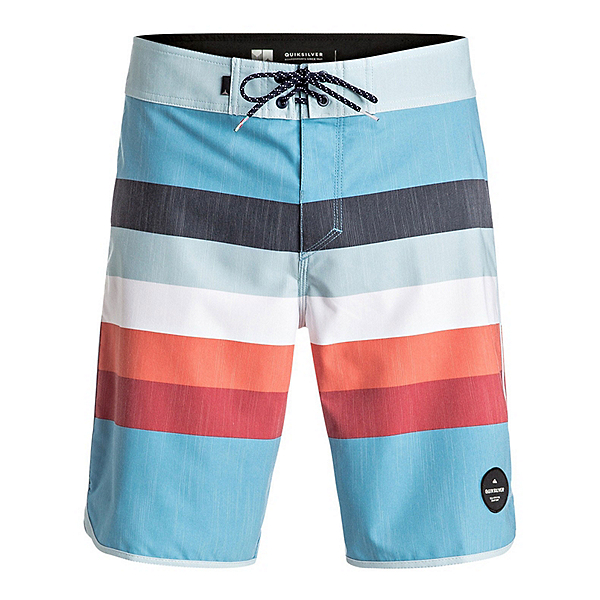 Quiksilver Seasons Scallop Mens Board Shorts, Angel Falls, 600