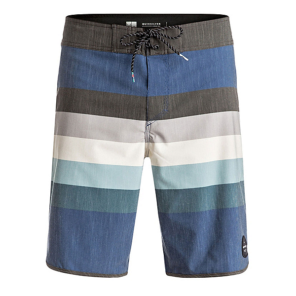 Quiksilver Seasons Scallop Mens Board Shorts, Estate Blue, 600