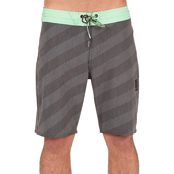 Volcom Stripey Slinger Mens Board Shorts, Stealth, 600