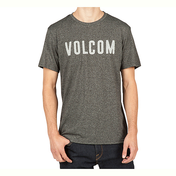 Volcom Trucky Mens T-Shirt, Heather Black, 600