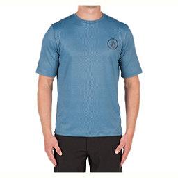 Volcom Distortion Mens Rash Guard, Smokey Blue, 256
