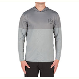 Volcom Distortion Block Mens Rash Guard, Pewter, 256
